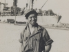 Kazuo Uyehara at waterfront in Leghorn, about to board ship [Courtesy of Bernard Akamine]