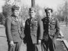 Robert Takashige, Roy Tomihama, and James Kamisato in uniform. [Courtesy of Bernard Akamine]
