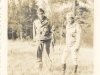 Ernest Enomoto with friend at Camp McCoy, Wisconsin [Courtesy of Misao Enomoto]1