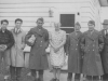 Robt. Dewa (?), ?, Rich Yoneshige, Ma Splinter, Sam Kitagawa, M. Kutara, Gramps George.  Taken 11-25-42 at Madison, Wisconsin.  [Courtesy of Ukichi Wozumi].