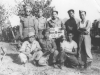 Company C soldiers pose together in Italy, 1944. [Courtesy of Mary Hamasaki]