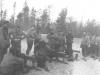 Mortar Platoon gathers around to practice firing. [Courtesy of Mary Hamasaki]