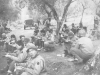 100th Infantry Battalion chow time in Italy, 1944. [Courtesy of Mary Hamasaki]