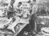Soldiers prepare the pig to roast after their reception in Maui, July 1940. [Courtesy of Mary Hamasaki]