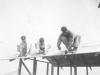 Construction of Macedo's Hut April 1942 Schofield.  [Courtesy of Mike Harada]