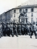 """1943 Here comes """"C"""" Company parade in Lecco, Italy  (Courtesy of Dorothy Inouye)"""