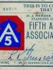 Fifth Army  Association Member ID   (Courtesy of Dorothy Inouye)