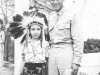 At Wisc.Dells. Cute huh! Indian's girl and me. [Courtesy of Dorothy Ibaraki]