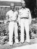 Masanobu Eugene Kawakami with Walter Moriguchi 8-16-42.  [Courtesy of Joanne Kai]