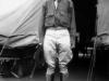 Takashi Kitaoka standing in front of Tent City at Schofield Barracks. [Courtesy of Takashi Kitaoka]