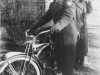 Fukuji and bicycle - Winona, Minn 1942. [Courtesy of John Oki]