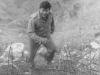 Don Matsuda climbing a hill in the Maritime Alps for rations. [Courtesy of Jane Kurahara]