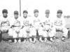 The Country all stars - L to R John Yamada - Ewa, Lefty Mizasawa- Wailua, Ra(?) Miyagi - Aiea, Ko Fukuda - Waialua,Fred Wada- Wahiawa, Al Nozaki - Waialua. [Courtesy of Leslie Taniyama]