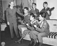 Earl Finch with Shelby Serenaders [442nd Regimental Combat Team Archives]