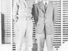 Moriso Teraoka and his brother, Sakae, in Denver, Colorado.  Moriso went on leave after basic training at Camp Shelby, Mississippi, 1943 (Courtesy of Moriso Teraoka)