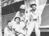 "Moriso ""Legs"" Teraoka with fellow soldiers at Camp Shelby, Mississippi, 1944 (Courtesy of Moriso Teraoka)"