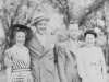Left to Right. Mr. & Mrs. Gantanbien from Lansing Iowa.  Mr. & Mrs Maxwell from Westby, Wisconsin.  (Both whiskey salesmen)  Taken at Tomah Park, Tomah Wisconsin on July 5, 1942.  [Courtesy of Jan Nadamoto]