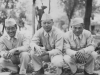 L to R.  Myself, Richard Oguro, James Komatsu. Taken on July 5, 1942 in front of fountains in Tomah, Wisconsin. Park situated just before entering town.  [Courtesy of Jan Nadamoto]