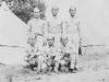 Taken July 21, 1942 right after I got thru drilling note leggins. Sada, Tom, Yutaka, Hisashi, myself, Kunio.  [Courtesy of Jan Nadamoto]
