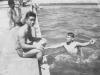 Relax!  Taken at LaCrosse Municipal Pool on July 19, 1942.  [Courtesy of Jan Nadamoto]