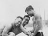 Taken in LaCrosse Public Bathing on the Mississippi River sometime in Sept. 1942.  [Courtesy of Jan Nadamoto]