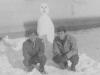 "Taken Nov. 27, 1942 right alongside our barracks.  Myself & ""Dopey"" Kurakabe.  [Courtesy of Jan Nadamoto]"