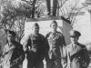 Taken Oct. 12 (about then) 1942 at Wisconsin University L to R: Choichi Shimabuku, Takeshi Tanaka, Yukio Yokota, myself.  [Courtesy of Jan Nadamoto]