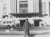 November 22, 1942 at New York Municipal Airport (La Guardia Airport) when we stopped for a few moments on our motor bust tour of New York City.  The only personal  picture we took there.  [Courtesy of Jan Nadamoto]