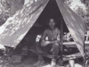 Stanley Hamamura in Pup Tent, 1944 [Courtesy of Fumie Hamamura]