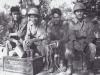 Rest Area. Hidenobu Hiyane,  Lawrence Iwamoto,  Lt. Kodama,  Stanley Hamamura - Vada Italy - 1944 [Courtesy of Fumie Hamamura]