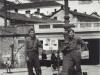 """""""With Tatsuo Suzuki - Novi Ligure, No. Italy - European War ended here May 1945"""" [Courtesy of Fumie Hamamura]"""
