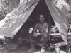 Stanley Hamamura in Pup Tent, 1944 [Courtesy of Fumie Hamamura]
