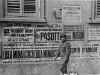Jimmy Inafuku walks one of the 100th Battalion's dogs through Italian streets [Courtesy of Carol Inafuku]