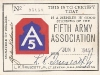 Fifth Army Association Card [Courtesy of Paul K. Kadowaki]
