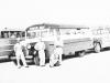 Standing in Front of school bus in La Crosse, Wisconsin. [Courtesy of Sonsei Nakamura]