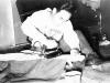 Sonsei Nakamura ironing in his Bunk at Camp McCoy [Courtesy of Sonsei Nakamura]