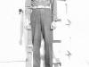 Saburo Hasegawa in front of barracks at Camp McCoy, Wisconsin [Courtesy of Goro Sumida] Inscription: To Goro, Saburo Hasegawa. Saburo Hasegawa