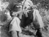 William Takaezu with gun. [Courtesy of Mrs. William Takaezu]