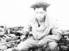 William Takaezu with the day's catch from Cat Island, Mississippi. [Courtesy of Mrs. William Takaezu]
