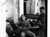 Soldiers play music while in Italy