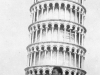 A soldier visits the leaning tower of Pisa, Italy