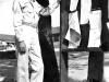 Gary Uchida checks out the bulletin board at Camp McCoy, Wisconsin, September 1942. [Courtesy of Janice Uchida Sakoda]
