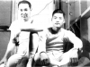 Sgt. Wilfred Maki (right) and I, taken in our room in our woolen undies. Camp McCoy, Wis. Oct. 1942. In the fall, the 100th moved into new barracks. Sgt. Shiro Maki and I share a room in the new building.  [Courtesy of Janice Uchida Sakoda] [Courtesy of Janice Uchida Sakoda]