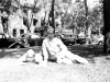 Gary Uchida and a friend at Wisconsin Dells Park. [Courtesy of Janice Uchida Sakoda]