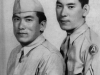 Tough to beat! Two KURODA brothers awarded the Distinguished Service Cross medal. On left is RONALD (100th Battalion B Co.) ROBERT (442nd H Co.) KIA in franceon Oct. 20, 1944. In 2000, President Clinton upgraded Robert's Distinguished Service Cross to Congressional Medal of Honor.  [U.S. Army Signal Corps]