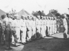 100th Bn. soldiers in formation at Camp McCoy, Wisconsin. [Courtesy of Lorraine Miyashiro]