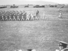 100th Battallion practices marching in formation at Camp McCoy, Wisconsin. [Courtesy of Lorraine Miyashiro]