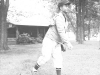August 23, 1942 White Hall, Wisconsin. Cold day 58 degrees. Warm up before game. [Courtesy of Leslie Taniyama]