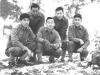Sept. 26, 1942. Camp McCoy. My Squad L to R. Back Row Yasuo Yasui, Donald Nagasaki, Front row - T. Okumura, Me. I. Inouye. [Courtesy of Leslie Taniyama]