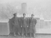 Tom Matsumura (far right) and friends on furlough at the Empire State Building, 1942. [Courtesy of Florence Matsumura]
